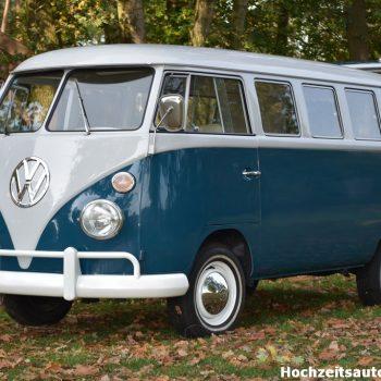 See Blauer Volkswagen Bus brautauto
