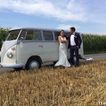 Hochzeitsbulli mieten Volkswagen T1 Weiss hell Grau in Nordhorn
