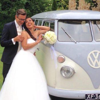 Hochzeitsbulli mieten Volkswagen T1 Weiss hell Grau in 45721 Haltern Am See