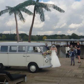 Hochzeitsbulli mieten Volkswagen T1 Weiss hell Grau in 44625 Herne