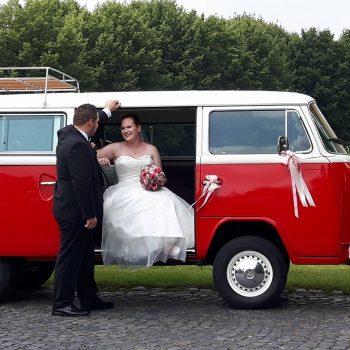 T2b Hochzeitsauto mieten VW Red Princess aus 1978 in Hasbergen Niedersachsen